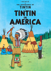 """The Adventures of Tintin: Tintin in America"" cover"